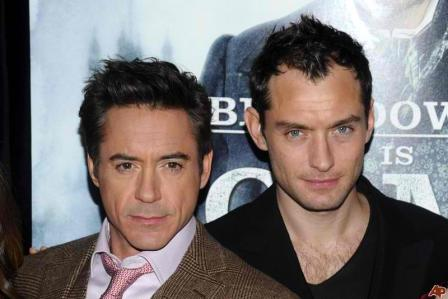 Robert Downey, Jr. and Jude Law