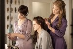 Alice and Rosalie helping Bella get ready